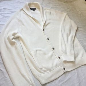 Cozy brooks brothers white knit cardigan